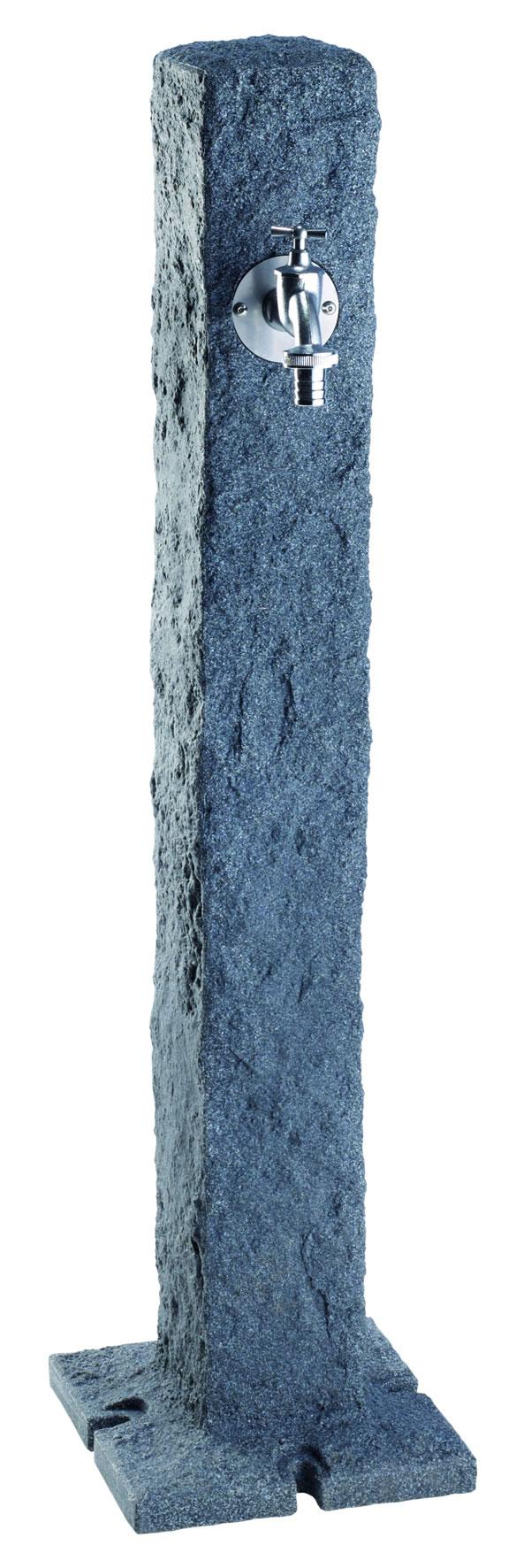 poteau d coratif robinet sur pilier accessoires pour barils de pluie jardin. Black Bedroom Furniture Sets. Home Design Ideas